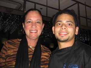 Kim Naimoli with Executive Chef Mo Khan