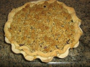 Blueberry – goat cheese – basil pie